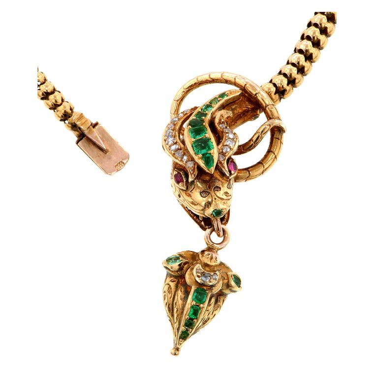 Doyle & Doyle Victorian snake necklace