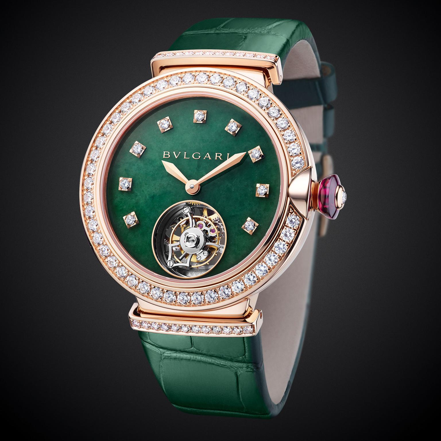 Bulgari LVCEA Tourbillon with jade dial