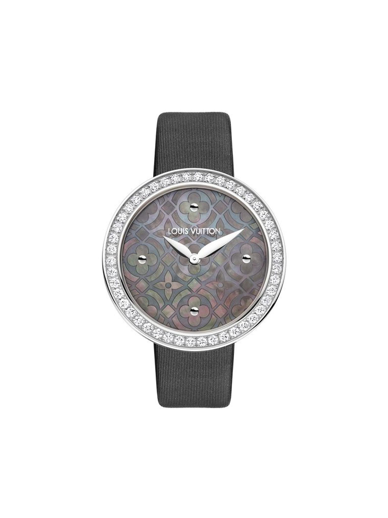 Louis Vuitton Dentelle de Monogram watch with a grey Polynesian pearl dial