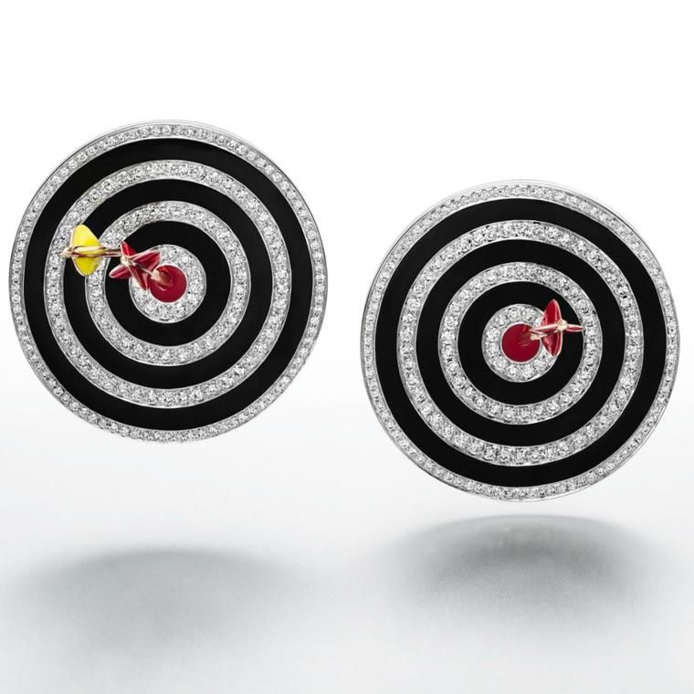 Suzanne Syz Hit the Bullseye earrings