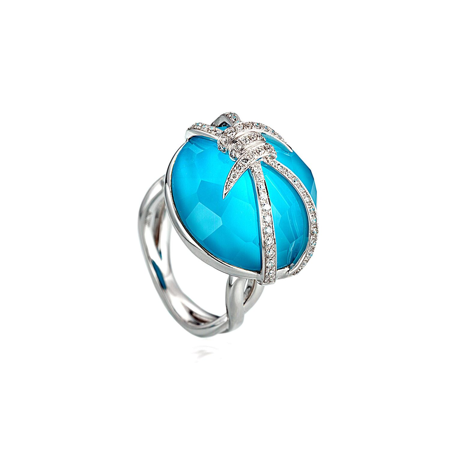 Stephen Webster Forget Me Knot bubble crystal haze ring
