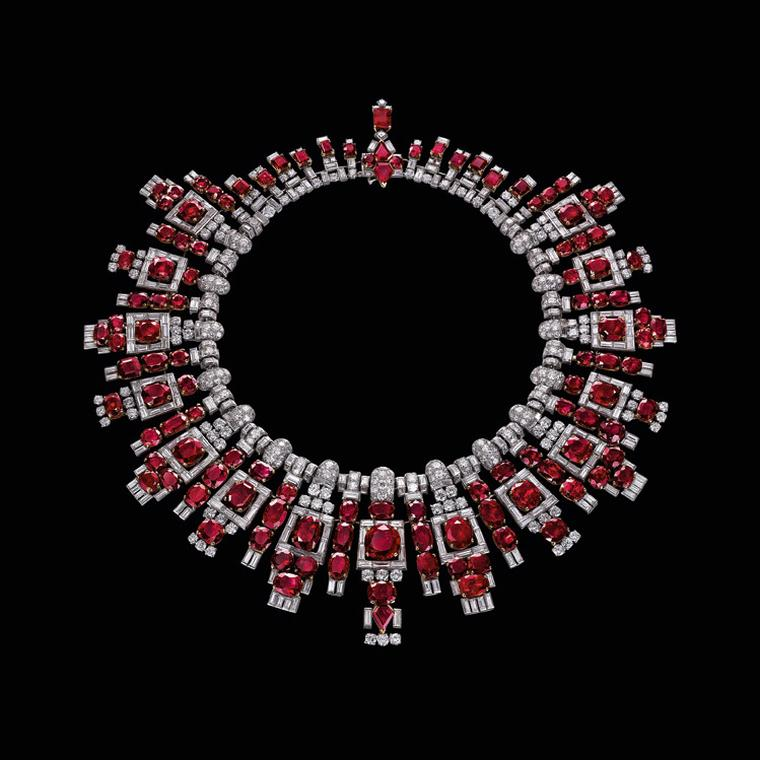 Al Thani Exhibition Ruby necklace by Cartier