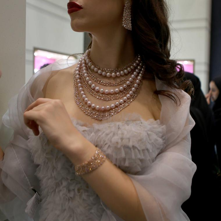 Pearls are a big draw at the Doha Jewellery and Watch Exhibition from brands such as Mikimoto to regional jewellers.