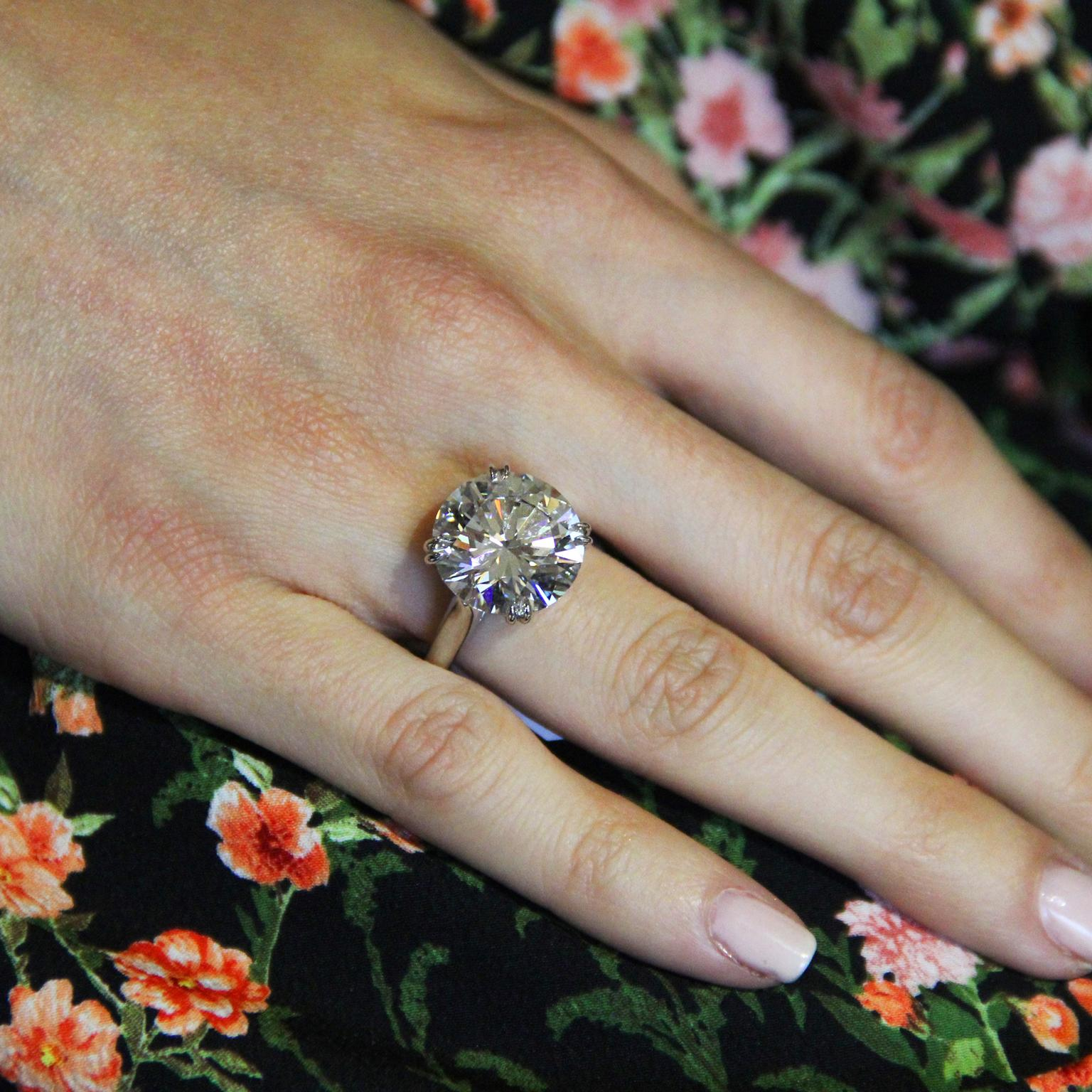 Harry Winston 10.60-carat round brilliant diamond engagement ring