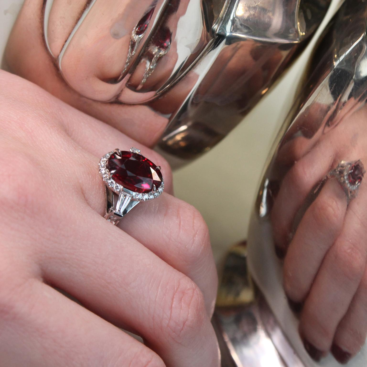 Fabergé ruby engagement ring