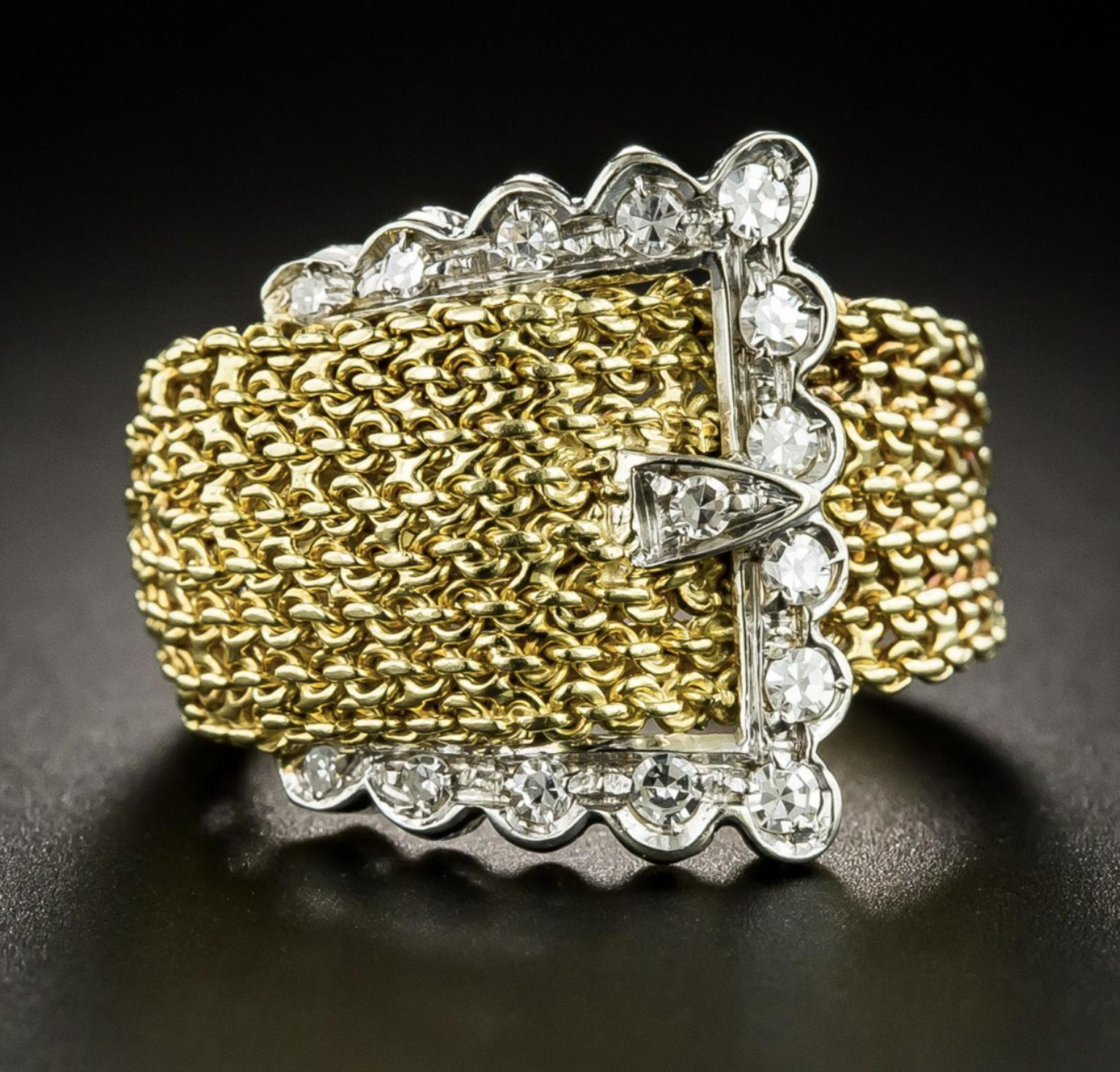 Mid-Century Buckle ring sold by Lang Antiques