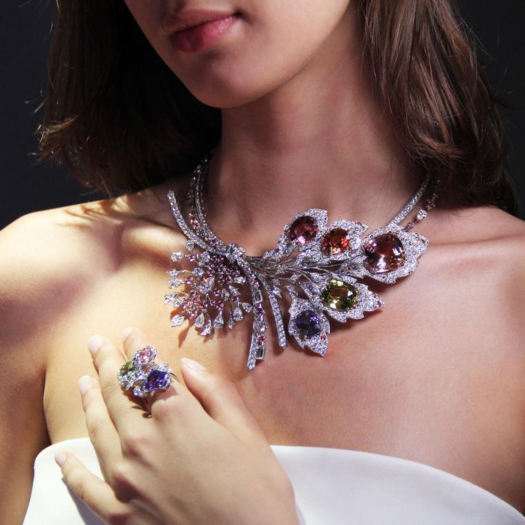 Chaumet est une fête Rhapsodie Transatlantique high jewellery ring and necklace