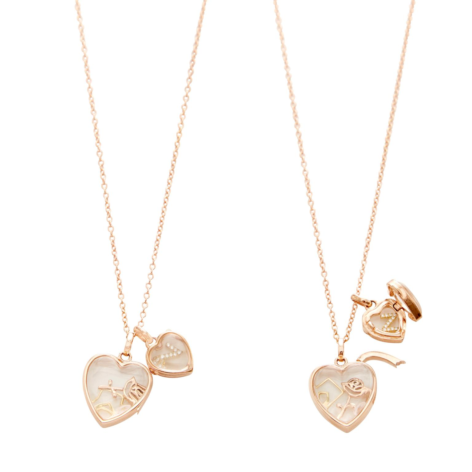 Loquet London Love double locket in gold