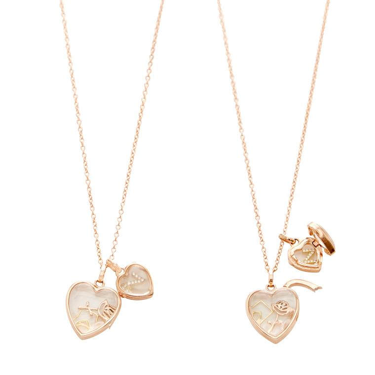 Love double gold locket