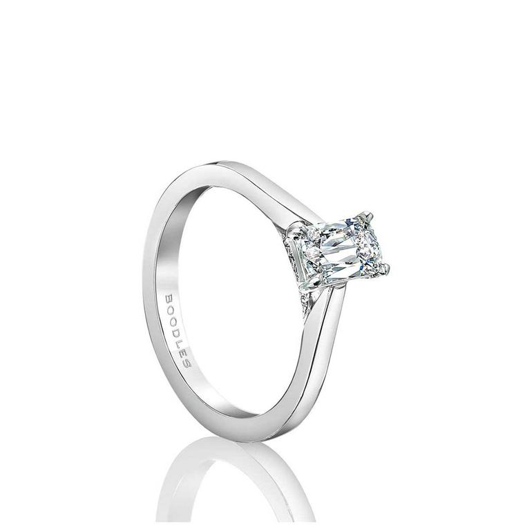 Boodles Harmony Ashoka diamond ring