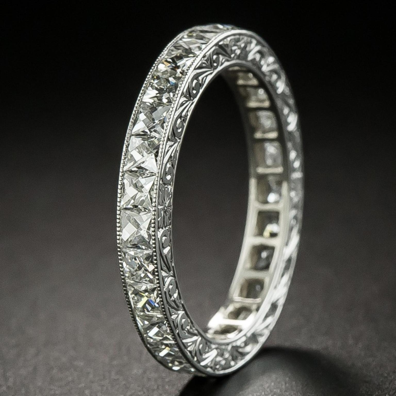 Eternity Wedding bands sold by Lang Antiques
