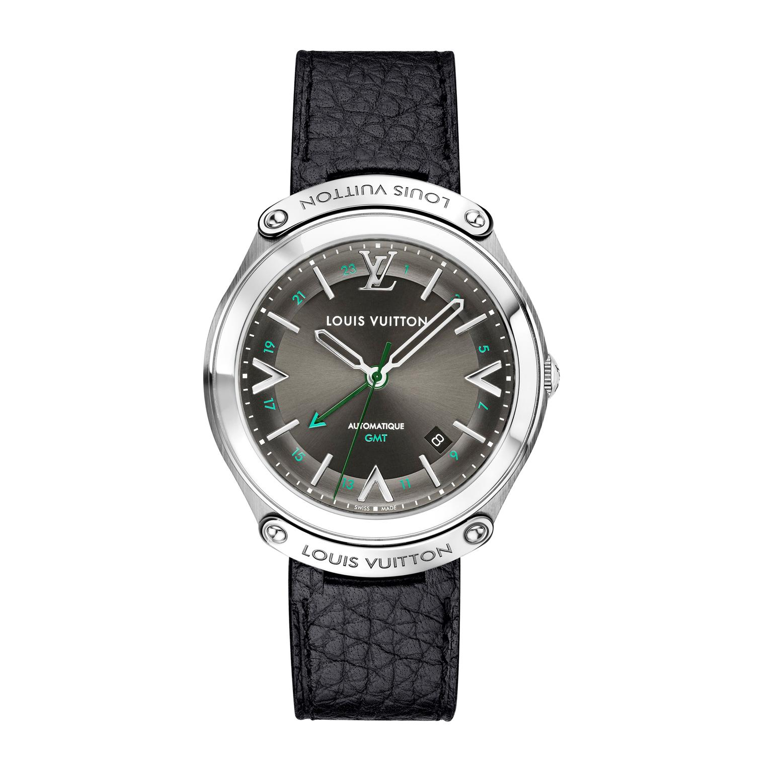 Louis Vuitton Fifty Five 41 mm GMT black strap