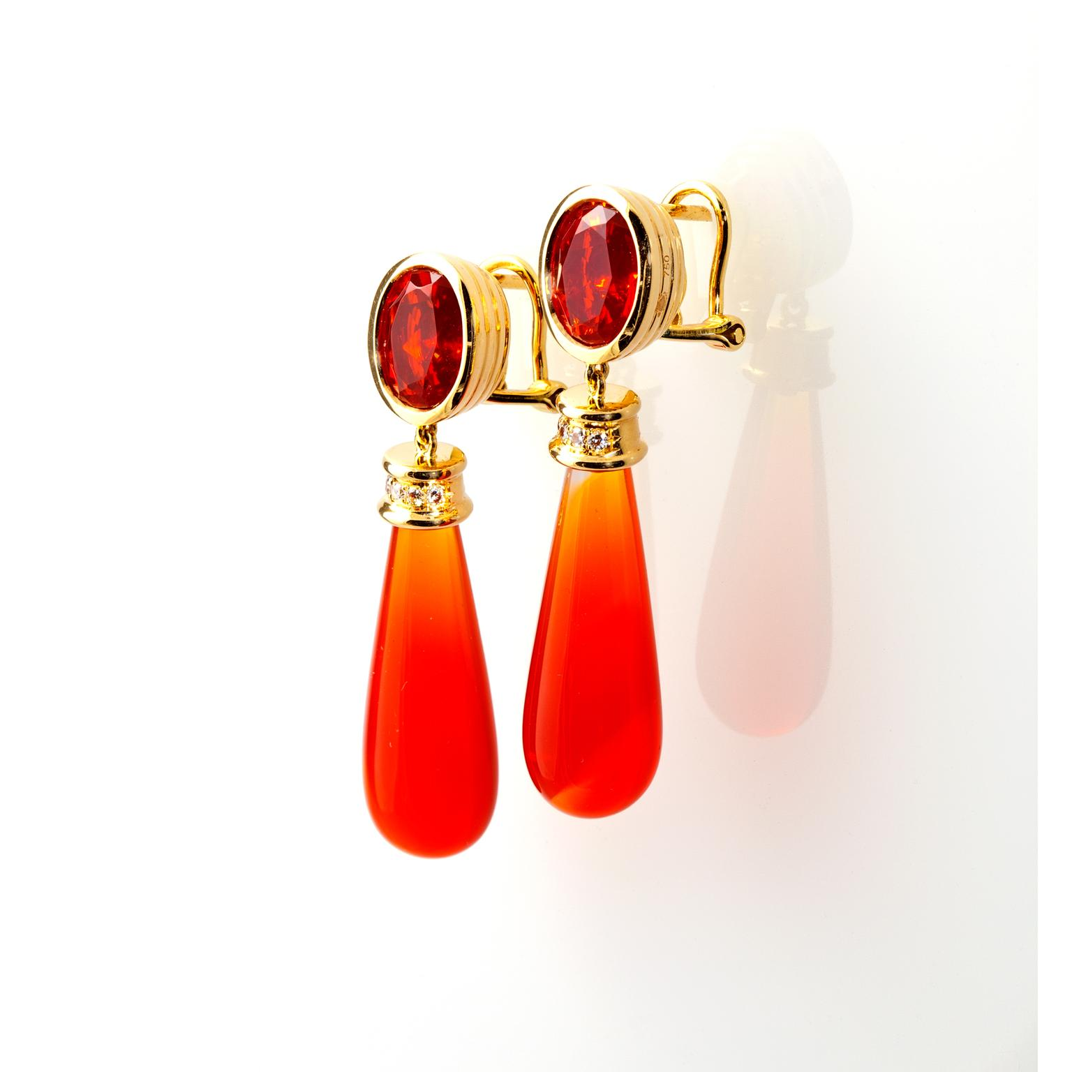Katherine Jetter Season Sunset mexican fire opal earrings