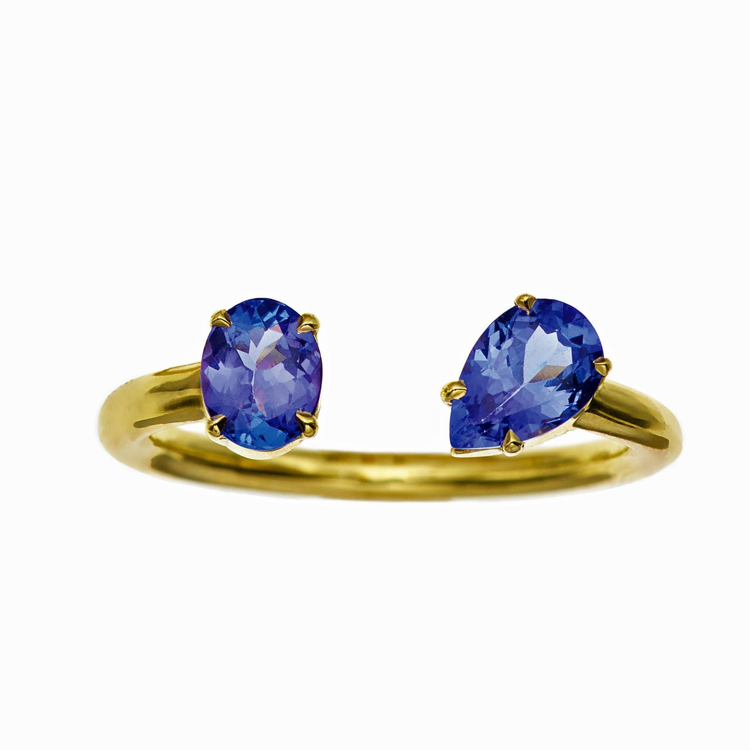 Jemma Wynne tanzanite open ring