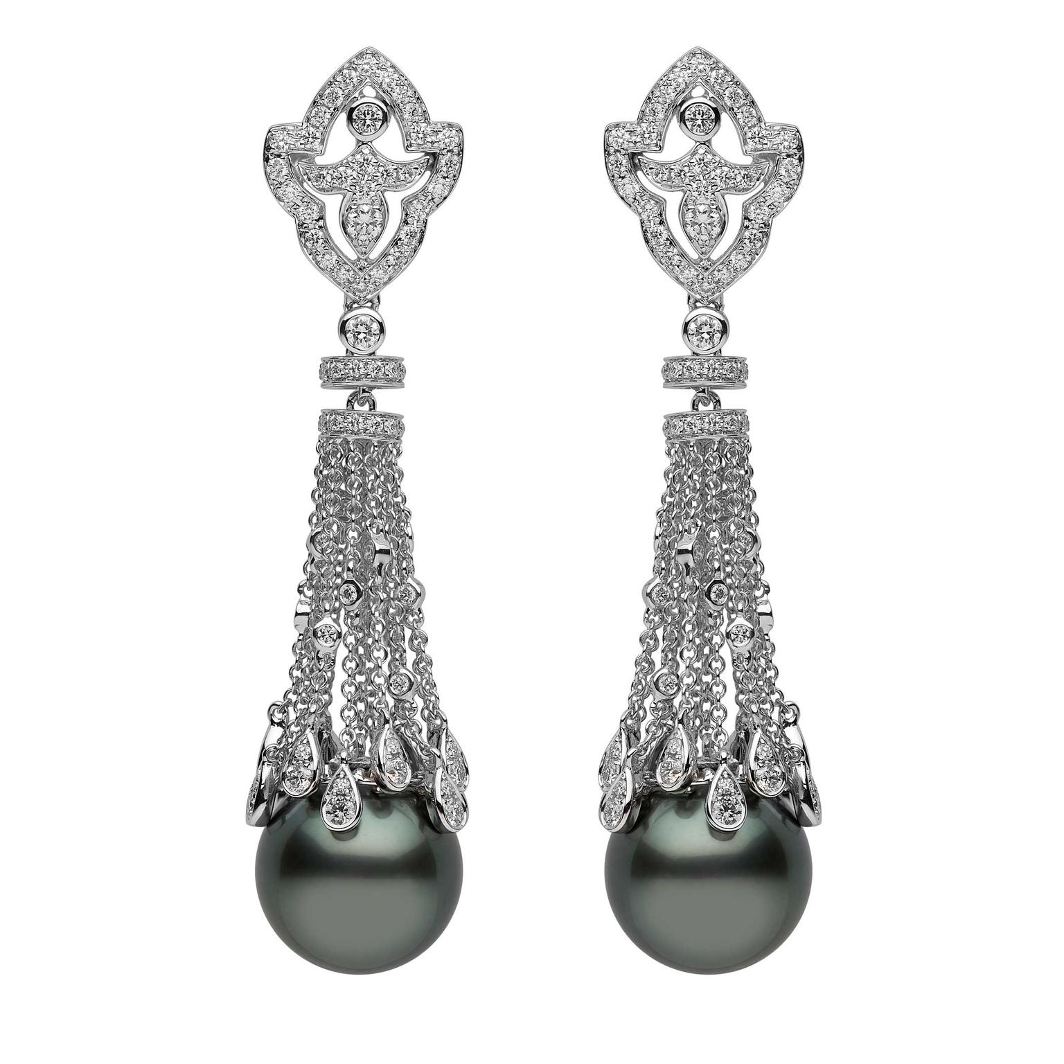 YOKO London Tahitian pearl earrings