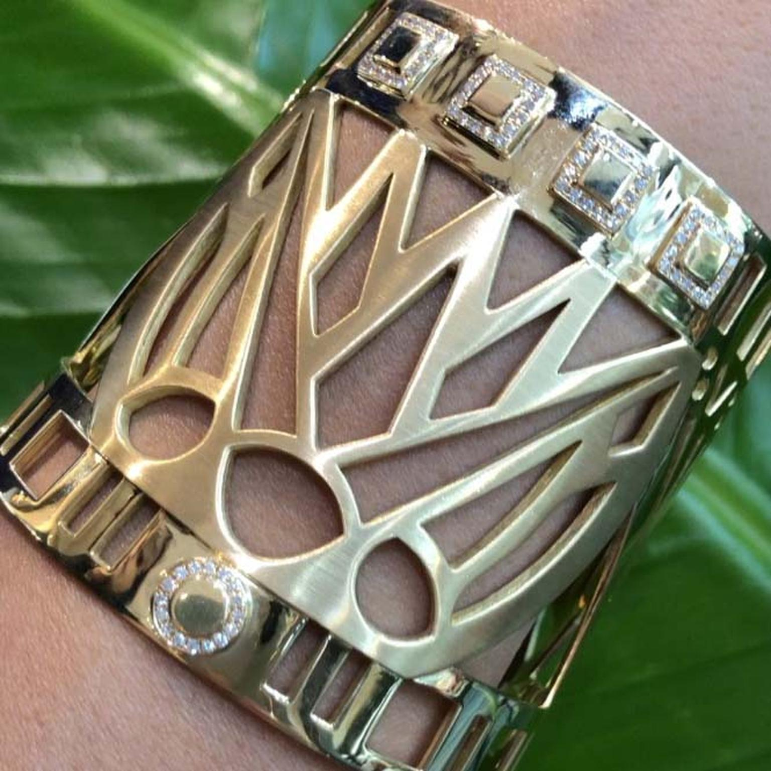 Lotus bangle from Azza Fahmy