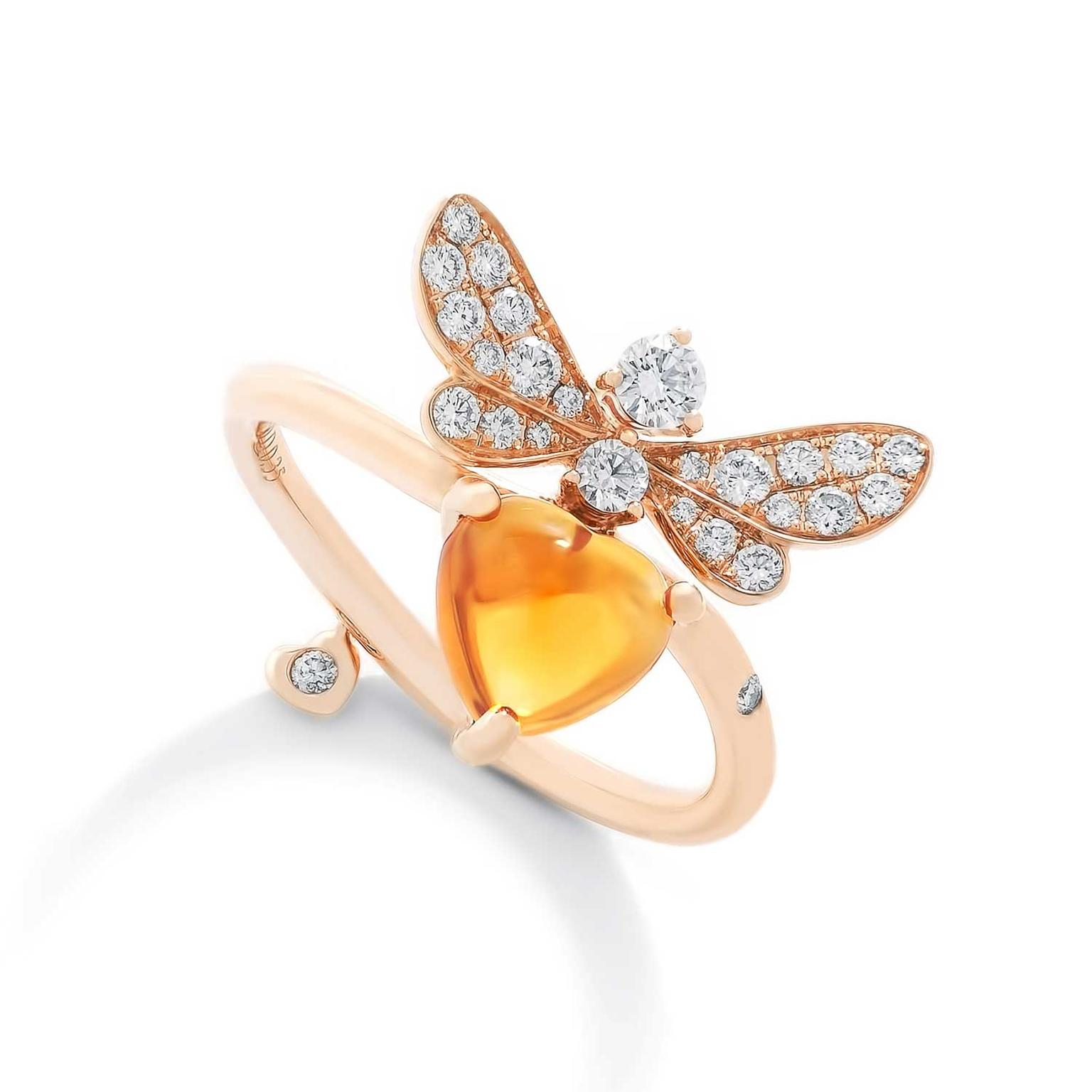Stenzhorn Bee Mine citrine and diamond ring
