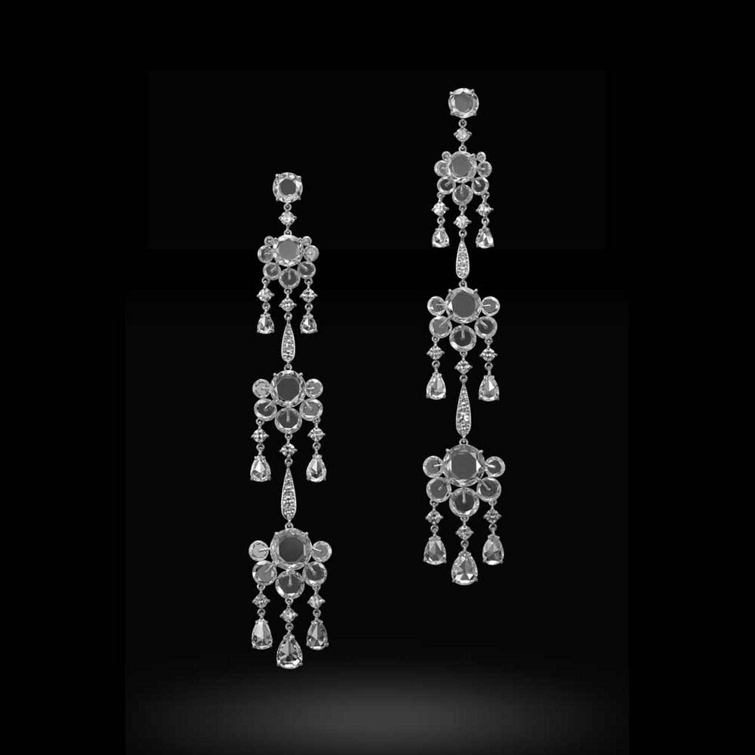Carnet Illuminate chandelier diamond earrings