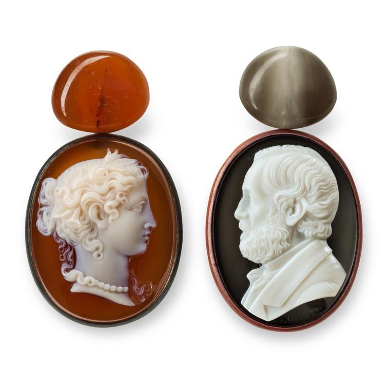 Hemmerle cameo earrings