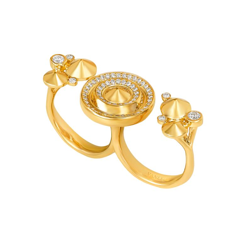 Out of Africa Sahara gold triple ring