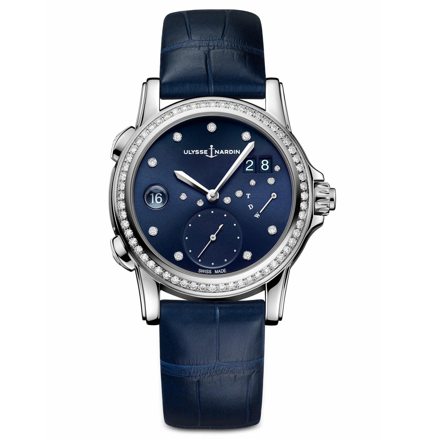 Ulysse Nardin Classic Lady Dual Time watch navy dial