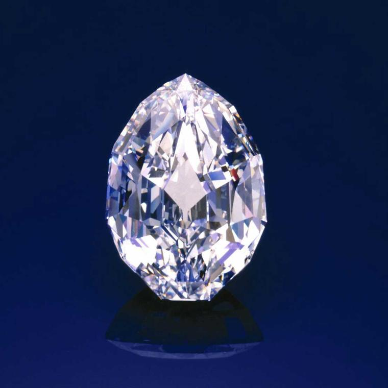 The 101.84-carat  Mouawad Splendour diamond of D colour, Internally Flawless grade sold for US$12.8 million (US$125.295 per carat) at Sotheby's Geneva in November 1990