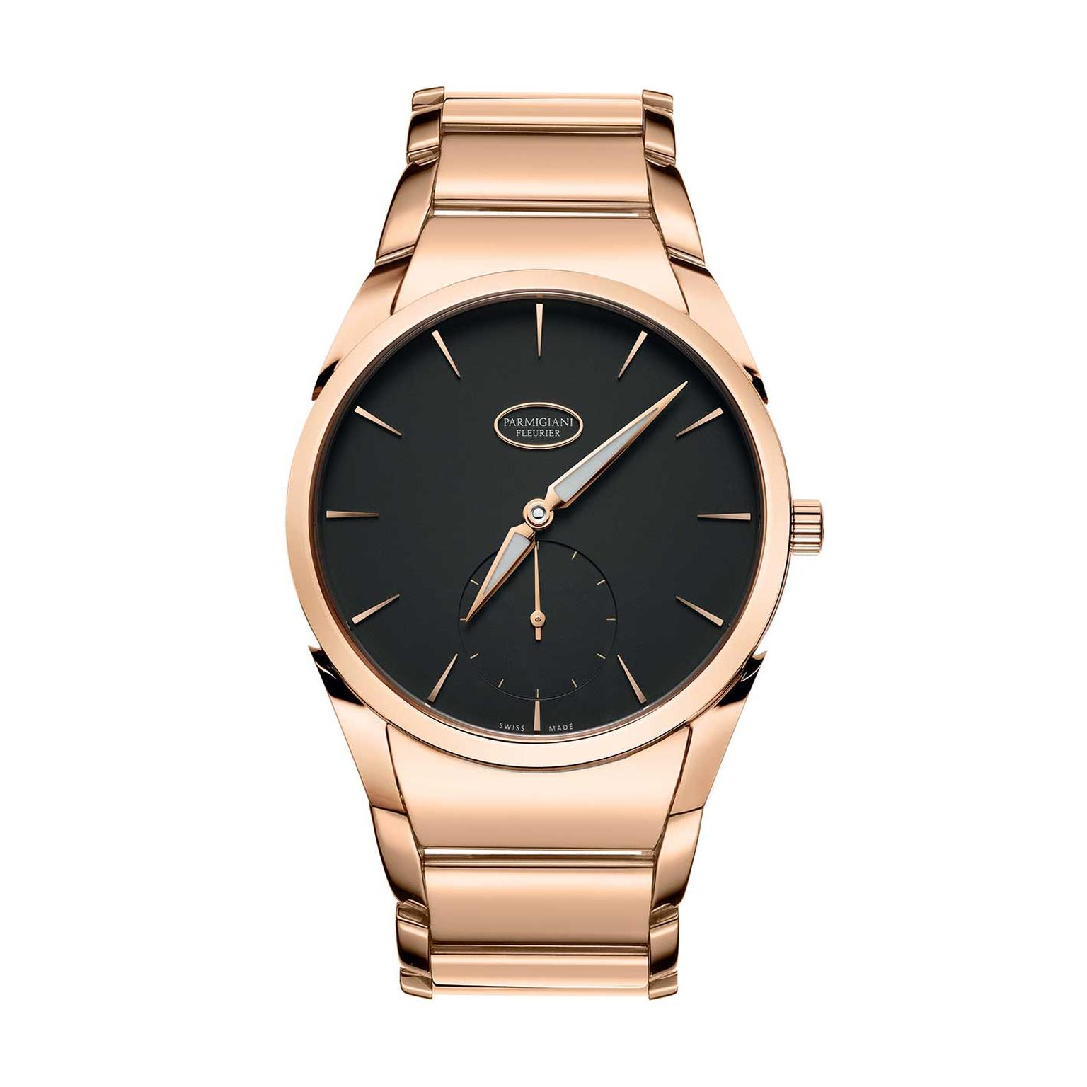 Parmigiani Tonda 1950 watch in rose gold with a graphite dial