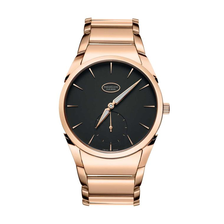 Tonda 1950 watch in rose gold with a graphite dial
