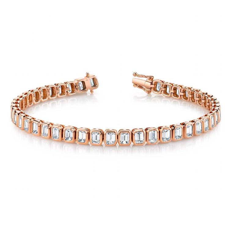 Diamond tennis bracelet in rose gold