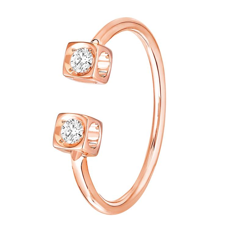 Dinh Van Le Cube Diamant ring rose gold