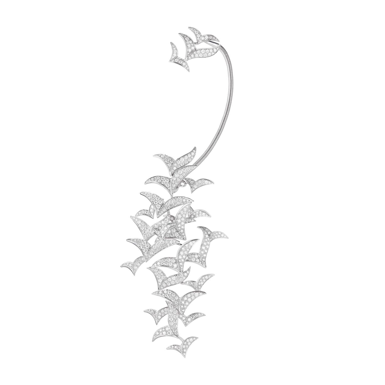 Boucheron Earring Murmuration - diamonds, white gold copy