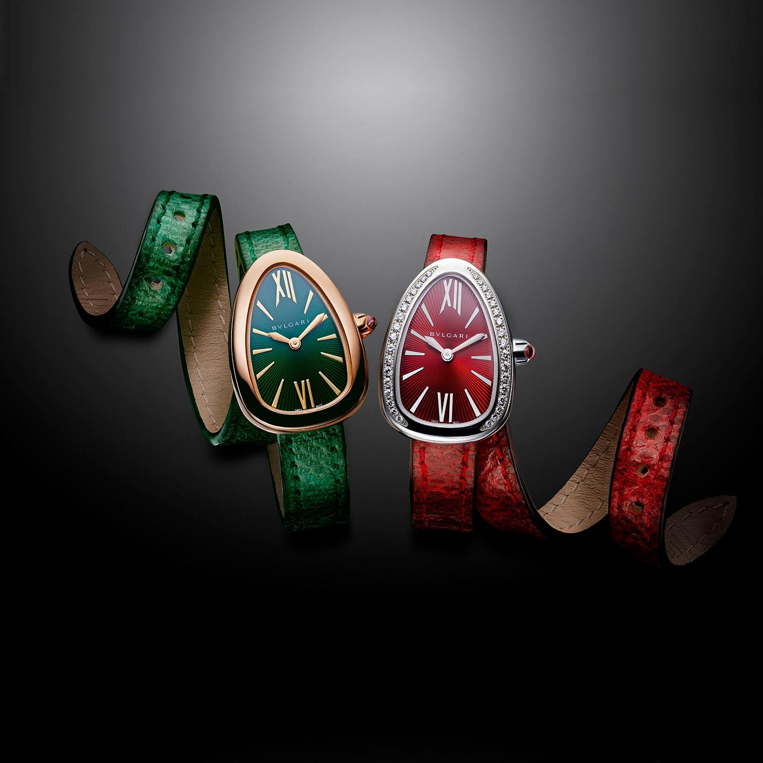Bulgari Serpenti Karung collection with snakeskin straps