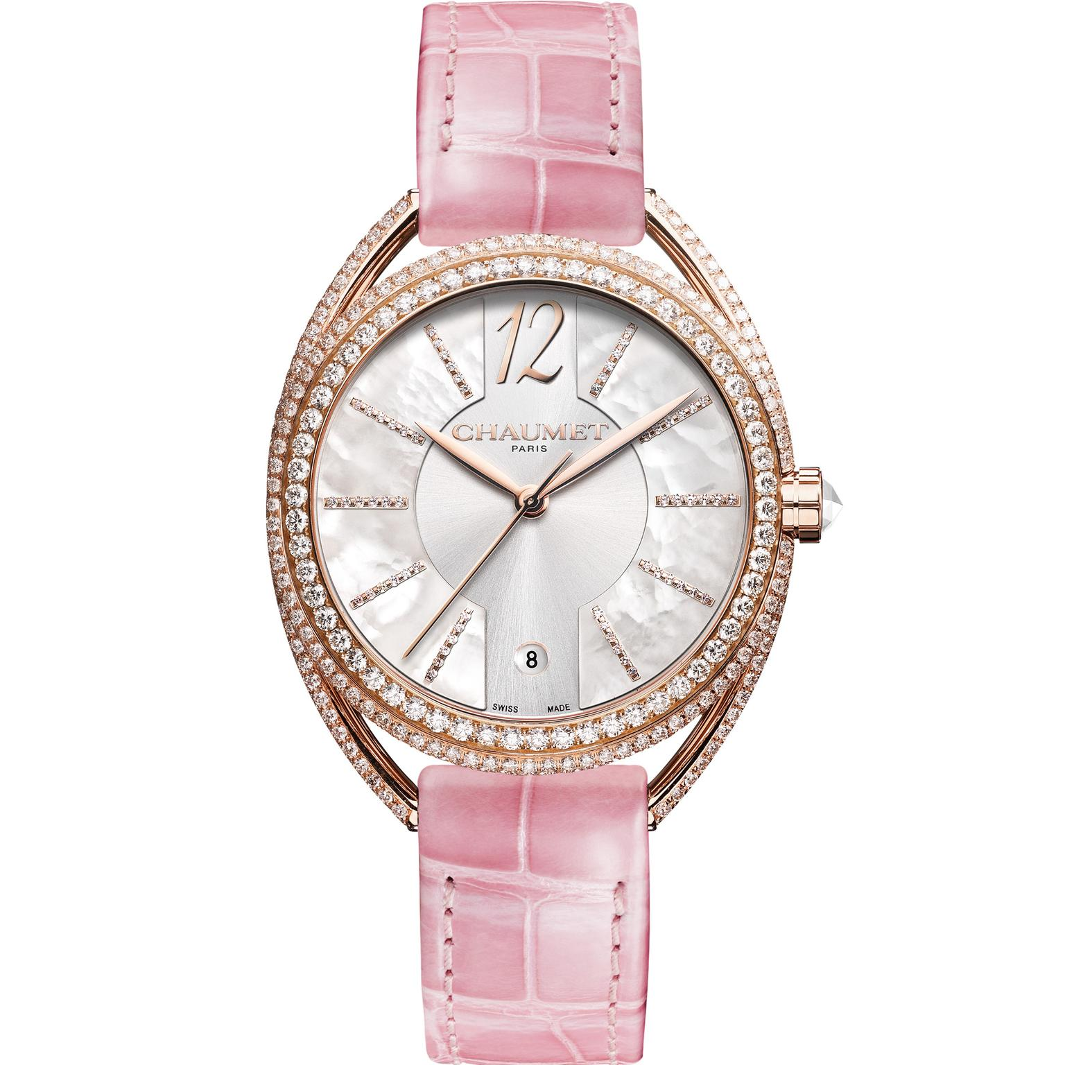 Chaumet Liens Lumière watch in rose gold with diamonds