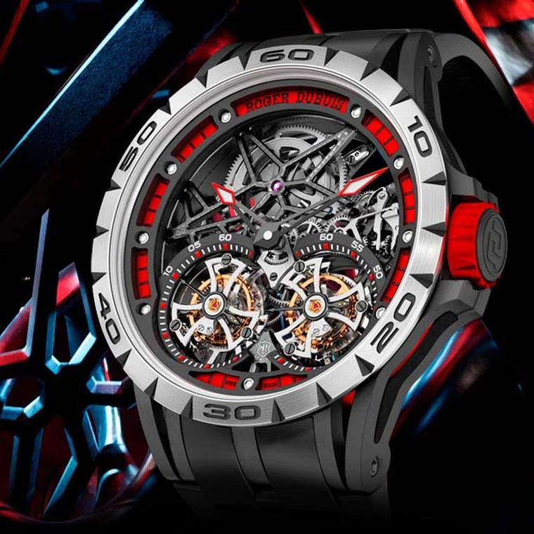 Roger Dubuis Excalibur Spider Skeleton Double Flying Tourbillon watch