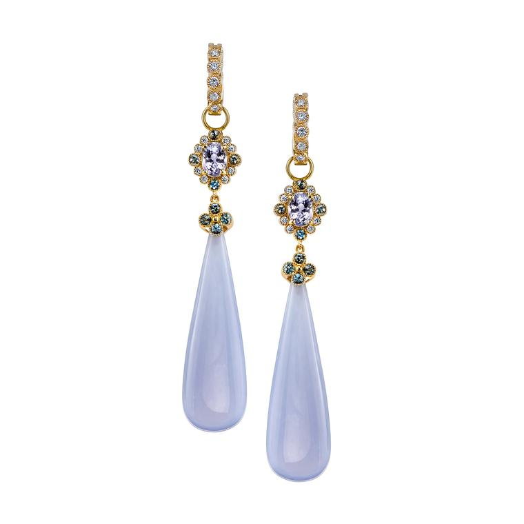 Erica Courtney chalcedony earrings