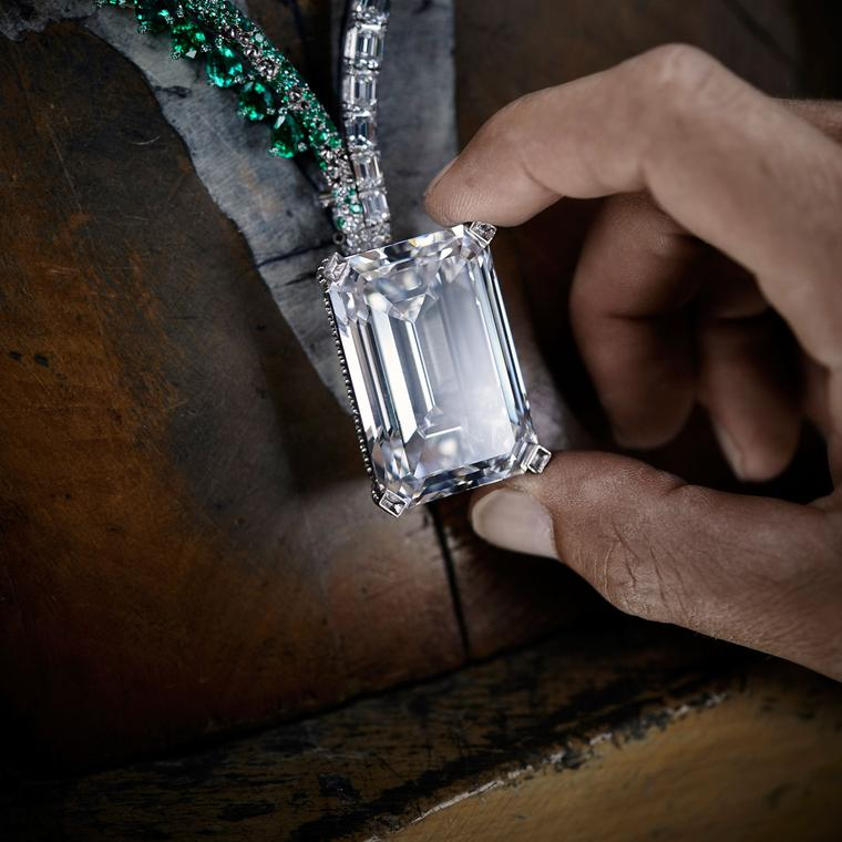 The Art of de GRISOGONO Creation 1 163.41 carat diamond being placed