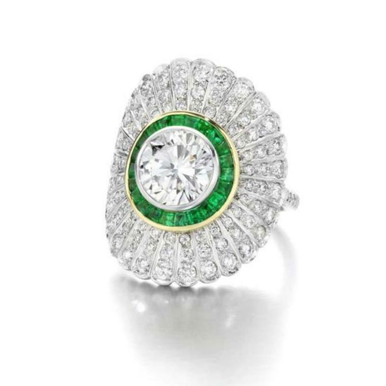 Jessica McCormack diamond and emerald ring