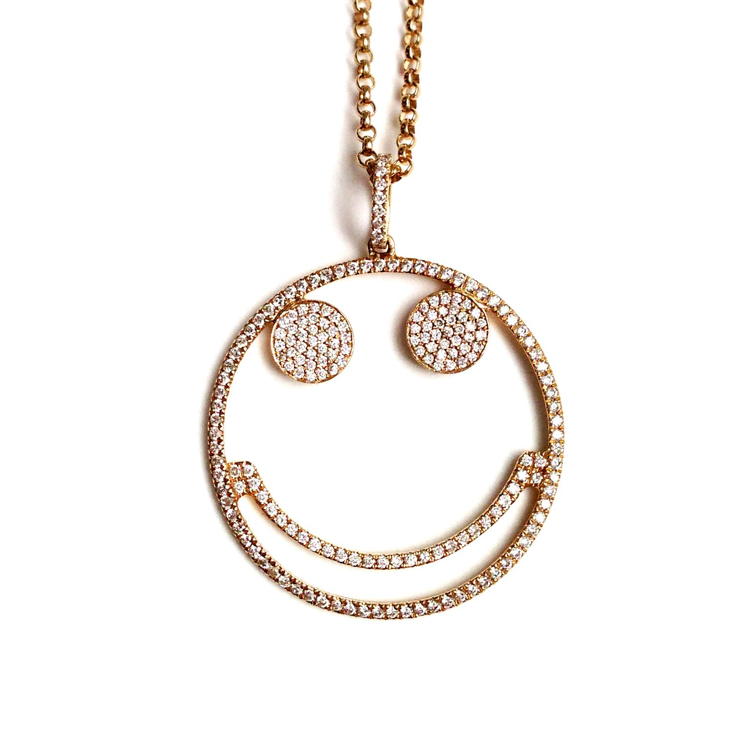 Rosa de la Cruz Smile diamond necklace