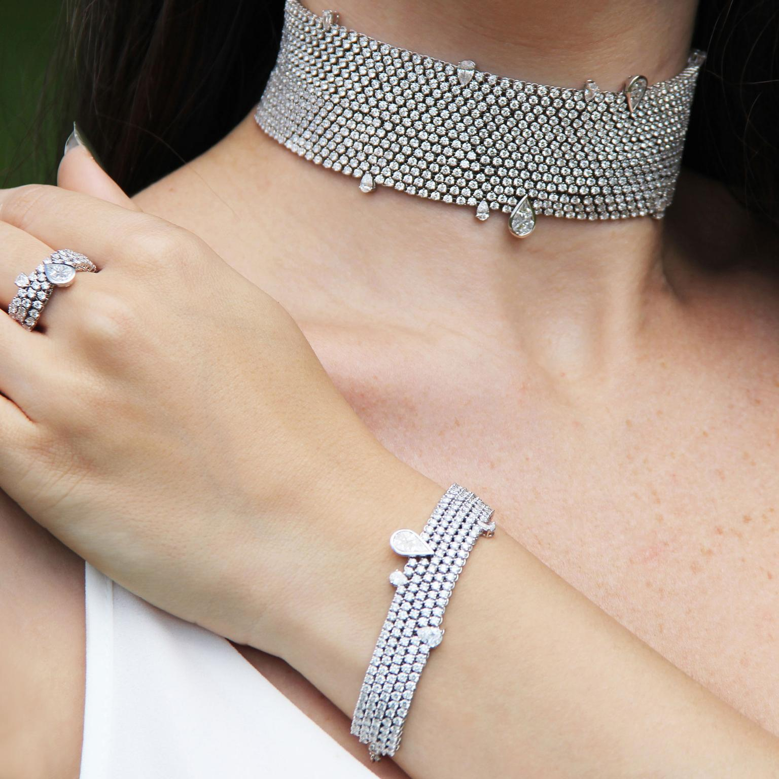 Stenzhorn Cowherd and the Weaver Girl diamond high jewellery choker