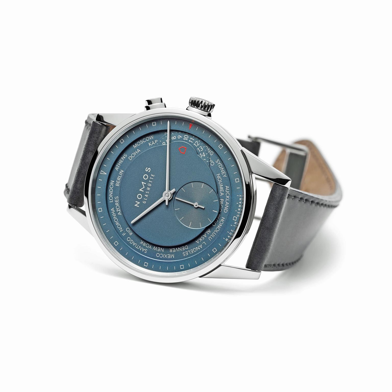 Nomos Zürich Worldtimer True Blue