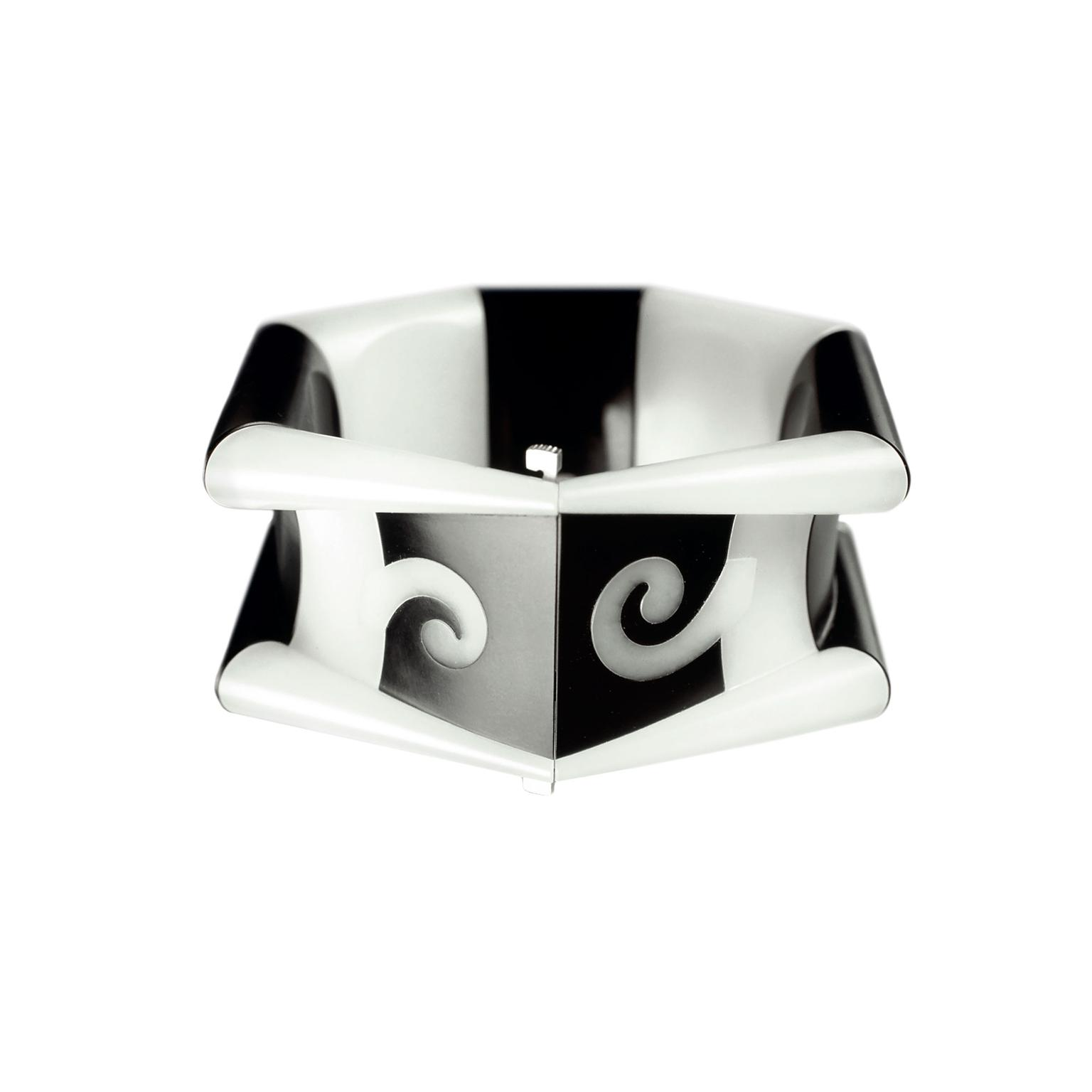 Charlotte De Syllas white and black jade bracelet
