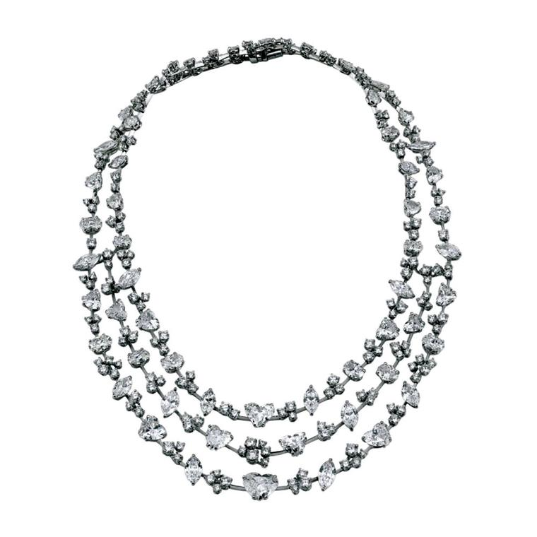 David Morris diamond necklace from 1stdibs