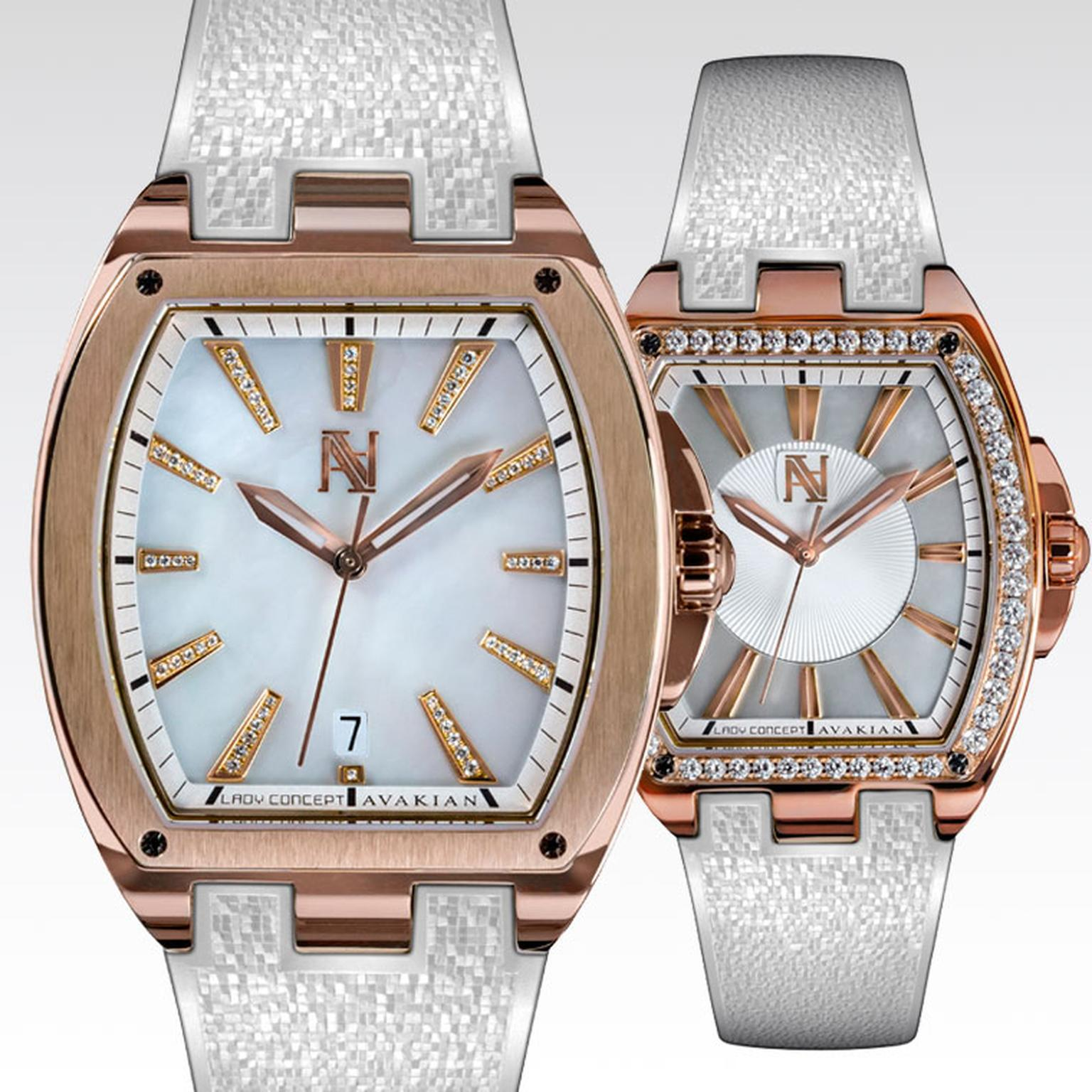 Avakian Lady Concept watch with mother-of-pearl dial and diamonds