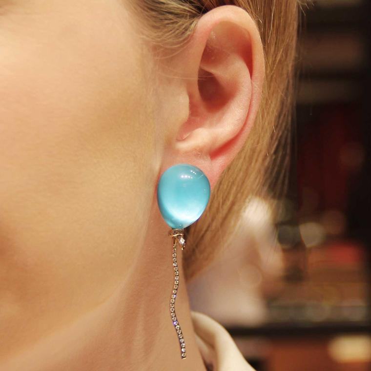 Vhernier Balloon earring being worn