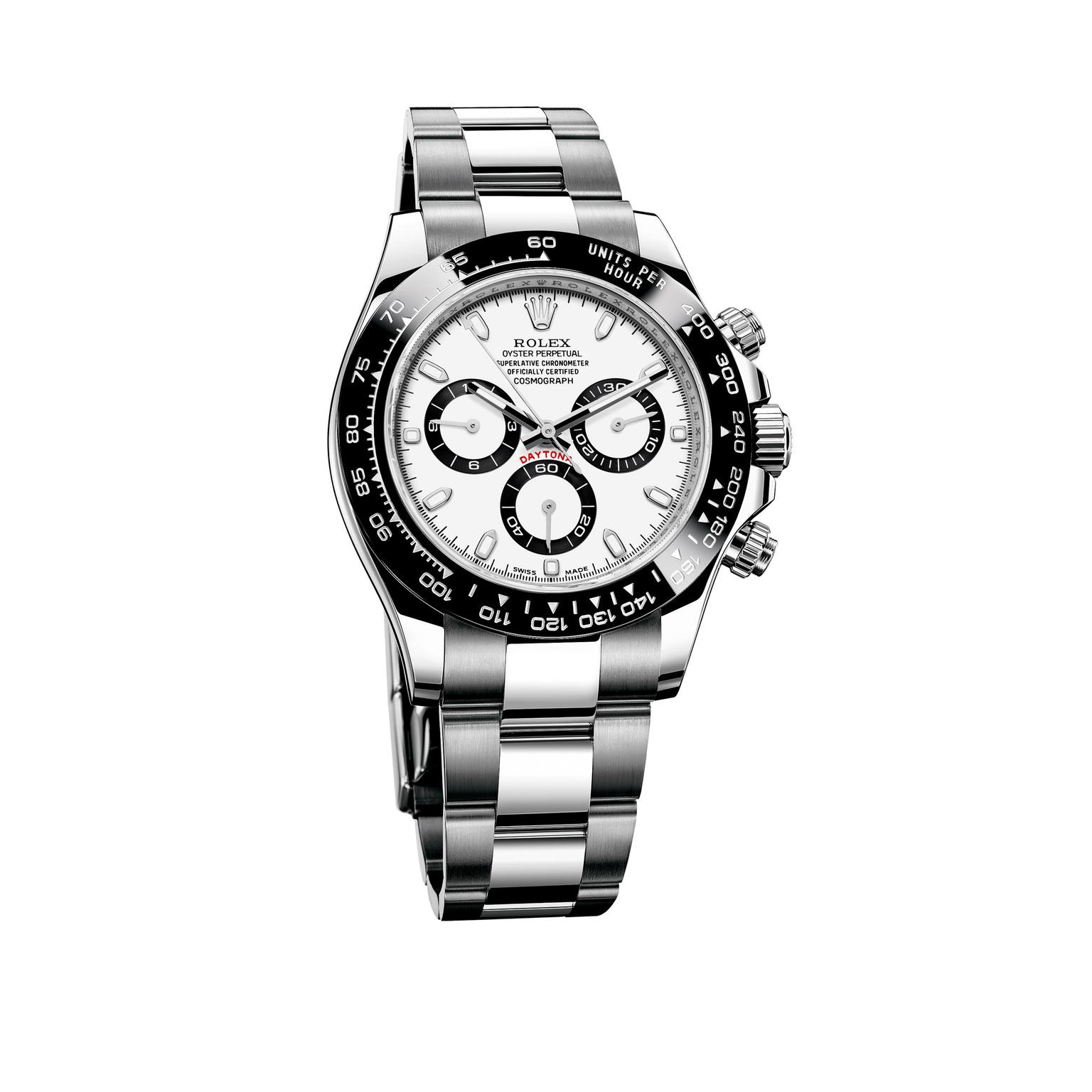 Rolex Cosmograph Daytona watch in stainless steel with a ceramic bezel