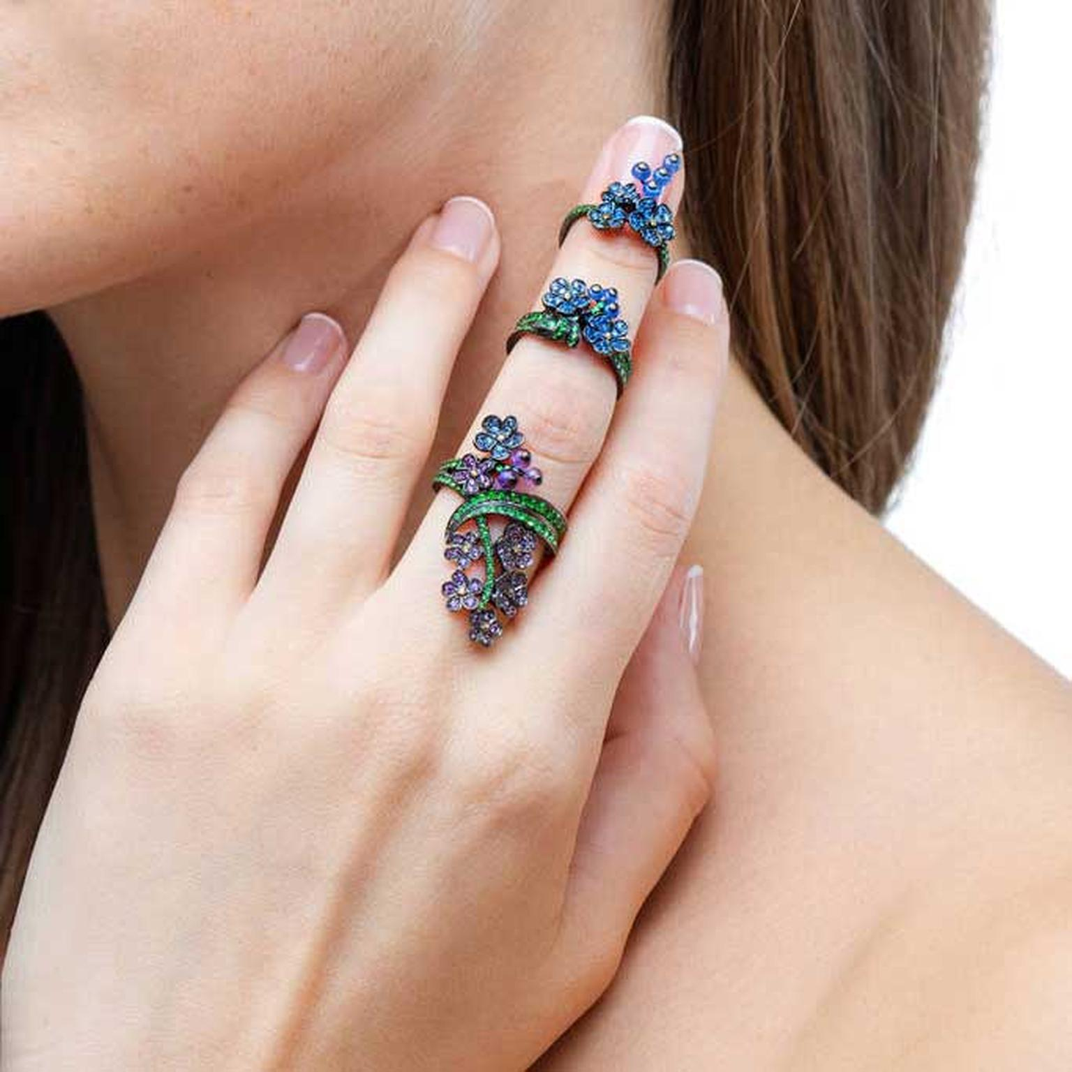 Lydia Courteille Myosotis ring