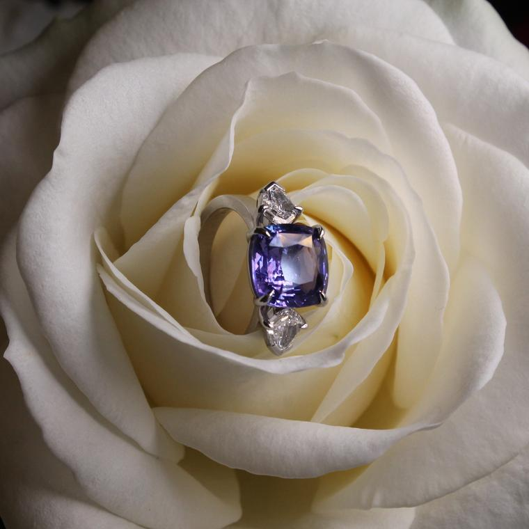 lavender diamond ring rose sapphire purple jewelry engagement pin gold mauve rings