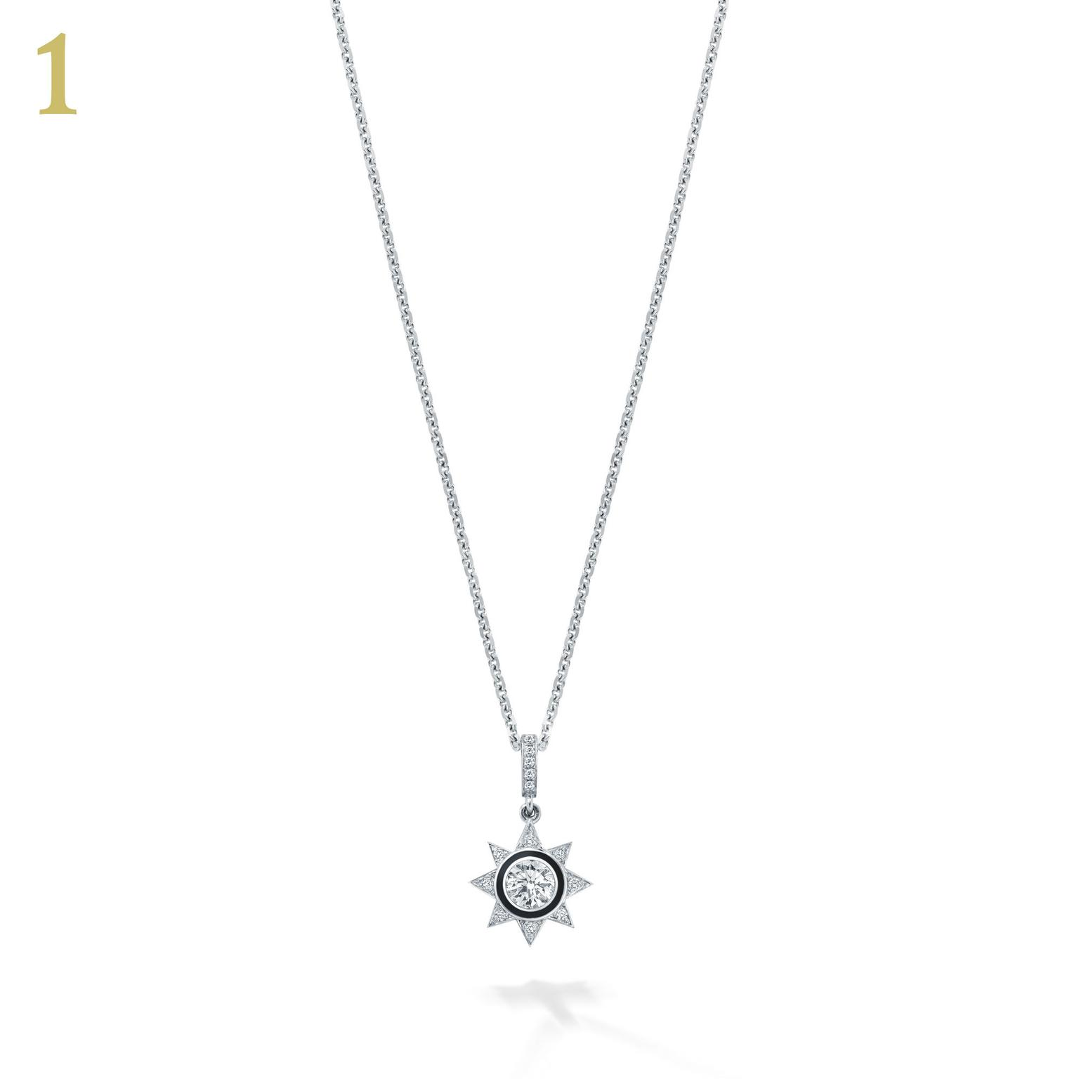 Boodles Cosmos star diamond pendant