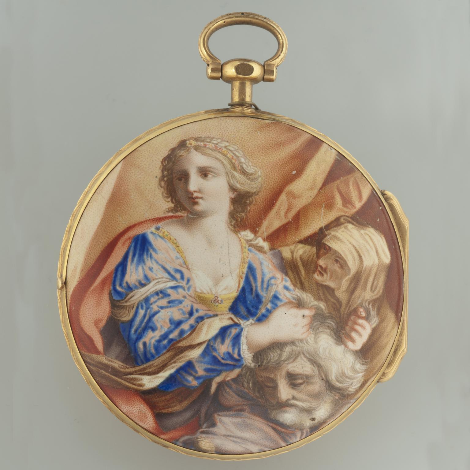 Judith and Holophernes enamelled watch