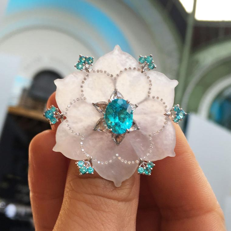 Boghossian Paraiba tourmaline ring at the Biennale